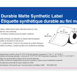 """4"""" x 2"""" GHS Chemical Label - 400 Labels (6-Pack)"""