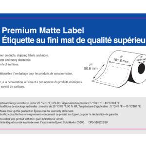 """4"""" x 2"""" Matte Paper Label - 565 Labels (6-Pack)"""