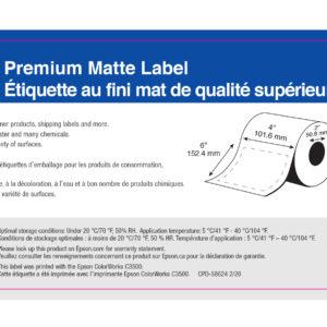 """4"""" x 6"""" Matte Paper Label - 200 Labels (6-Pack)"""